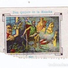 Cupones ONCE: CUPÓN SOCIEDAD CIEGOS LA HISPALENSE.1934. DON QUIJOTE DE LA MANCHA.CAPITULO I, Nº 1. Lote 201479278