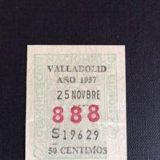 Billets ONCE: LOTERIA CUPON ONCE AÑO 1957 NUMERACIÓN 888. Lote 202251955