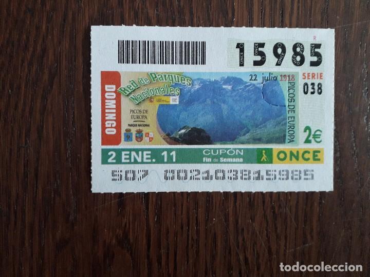CUPÓN ONCE 02-01-11 PARQUE NACIONAL DE PICOS DE EUROPA (Coleccionismo - Lotería - Cupones ONCE)