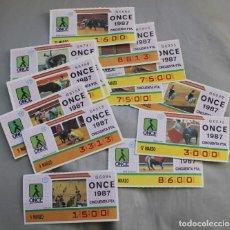 Cupones ONCE: 16 CUPONES DE LA ONCE AÑO 1987 TAUROMAQUIA. Lote 204589047