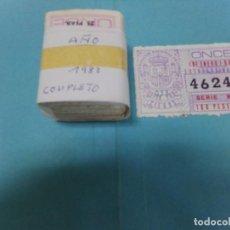 Cupones ONCE: CUPON ONCE, AÑO 1983 COMPLETO, CON EL EXTRAORDINARIO. Lote 206209670