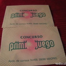 Cupones ONCE: ANTIGUOS SOBRES CONCURSO PRIMI JUEGO. Lote 207013936