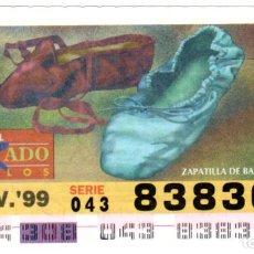 Cupones ONCE: CUPONES DE LA ONCE - AÑO 1999 - 4 DE NOVIEMBRE - ESTILO DE CALZADO: ZAPATILLA DE BALLET -. Lote 207288521