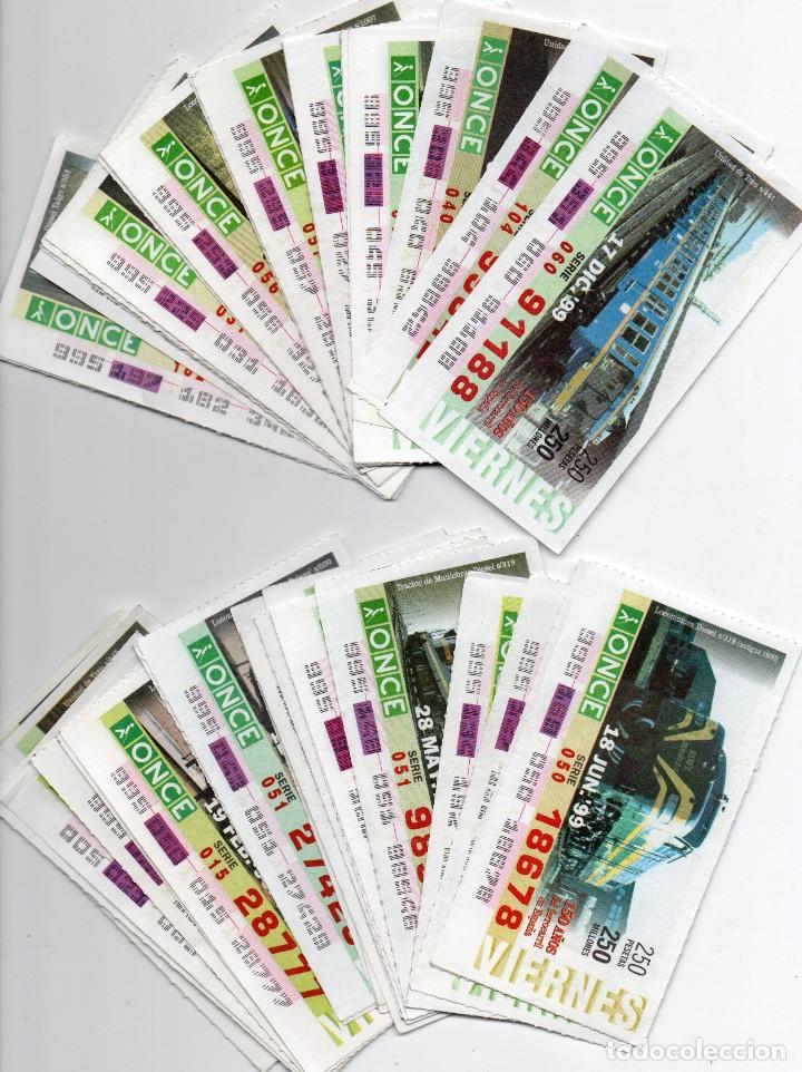CUPON ONCE,SERIE LOCOMOTORAS COMPLETA 46 LOCOMOTORAS 1999 (Coleccionismo - Lotería - Cupones ONCE)