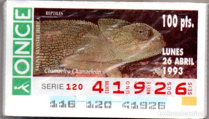 51 CUPONES DE LA ONCE DE FAUNA SILVESTRE IBÉRICA - AÑO 1993 - VER FECHAS - (Coleccionismo - Lotería - Cupones ONCE)