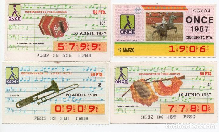 CUPON ONCE,CUPONES DIFICILES DEL AÑO 1987, TAMBIÉN SE VENDEN SUELTOS (Coleccionismo - Lotería - Cupones ONCE)