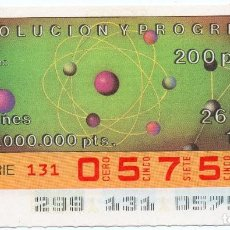 Cupones ONCE: CUPÓN ONCE,CUPÓN 26 DE OCTUBRE DE 1990,DE 200 PTS LOS QUE NO SALIERON HALA VENTA. Lote 209197860