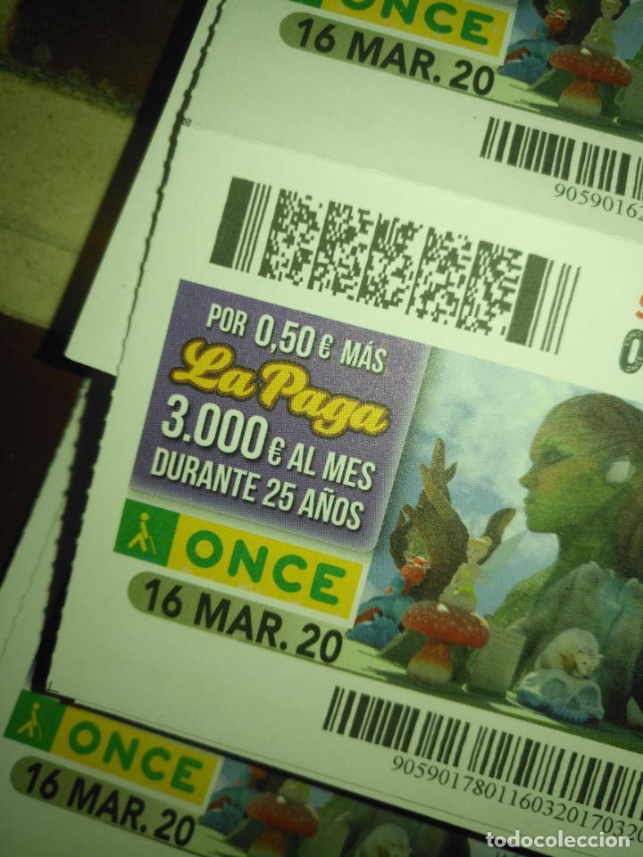 Cupones ONCE: lote 7 cupones de la once dia 16 17 18 19 20 21 y 22 CUPONES NO SORTEADOS MARZO 2020 confinamiento - Foto 2 - 210414111