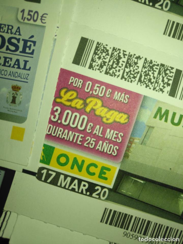 Cupones ONCE: lote 7 cupones de la once dia 16 17 18 19 20 21 y 22 CUPONES NO SORTEADOS MARZO 2020 confinamiento - Foto 3 - 210414111
