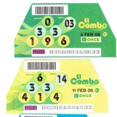 Cupones ONCE: EL COMBO DE LA ONCE, SORTEOS, 4,11,18,25, DE FEBRERO DEL 2006. Lote 211602019