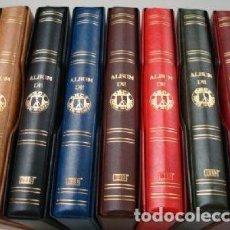 Cupones ONCE: OFERTÓN ¡¡¡¡¡ 7 ÁLBUMES CUPONES ONCE 27X33 CM. 4 ANILLAS. GAMA DE COLORES.STANDARD. Lote 212093462