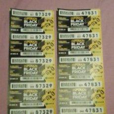 Cupones ONCE: CUPÓN BLACK FRIDAY. Lote 213922930