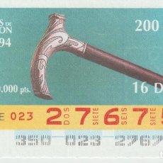 Cupones ONCE: PUÑOS DE BASTON -. Lote 214440500