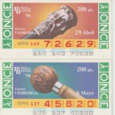Cupones ONCE: PUÑOS DE BASTON -. Lote 214440550