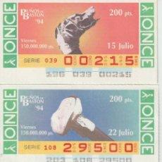 Cupones ONCE: PUÑOS DE BASTON -. Lote 214440566