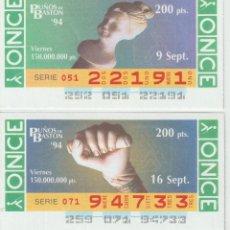 Cupones ONCE: PUÑOS DE BASTON -. Lote 214440575