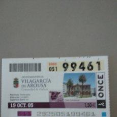 Cupones ONCE: CUPÓN ONCE - VILLAGARCÍA DE AROUSA -. Lote 214840057