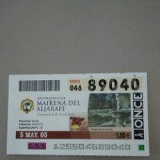 Cupones ONCE: CUPÓN ONCE - MAIRENA DE ALJARAFE -. Lote 214841158