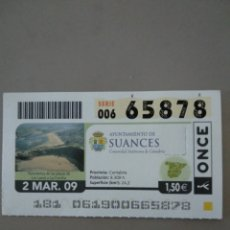 Cupones ONCE: CUPÓN ONCE - SUANCES -. Lote 214844966