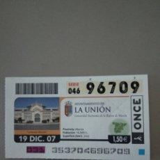 Cupones ONCE: CUPÓN ONCE - LA UNIÓN -. Lote 214846272