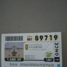 Cupones ONCE: CUPÓN ONCE - GUARDO -. Lote 214847318