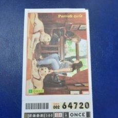 Cupones ONCE: BONO CUPÓN ONCE COMPLETO TARJETA MÁS POSTAL 2011. Lote 218963247