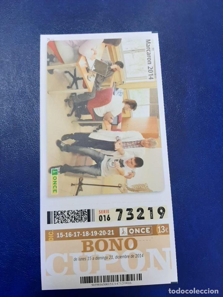 BONO CUPÓN ONCE COMPLETO TARJETA MÁS POSTAL 2014 (Coleccionismo - Lotería - Cupones ONCE)