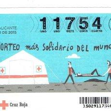 Billets ONCE: SORTEO DE LA CRUZ ROJA, 23 DE JULIO DEL 2015, SERIE 29. Lote 219622086