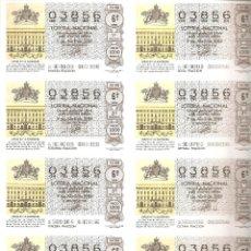 Bilhetes ONCE: 1988 BILLETE LOTERÍA Nº 15. Lote 220261827
