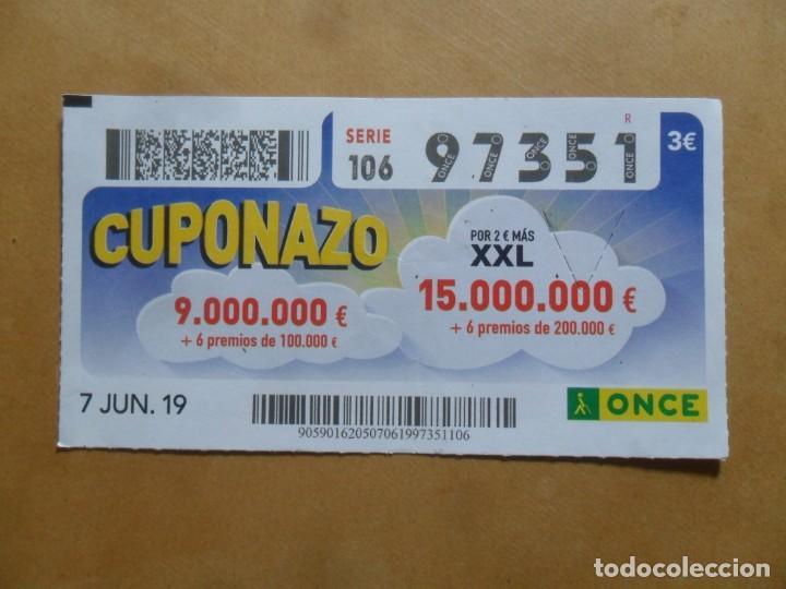 CUPON O.N.C.E. - Nº 97351 - 7 JUNIO 2019 - CUPONAZO - (Coleccionismo - Lotería - Cupones ONCE)