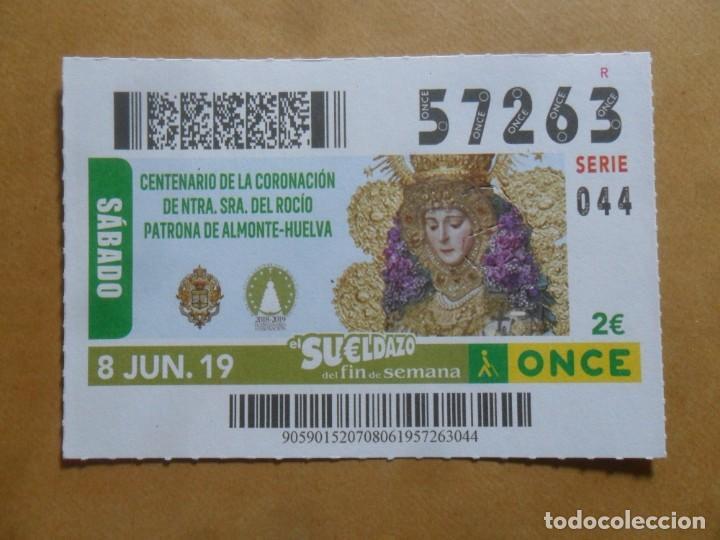 CUPON O.N.C.E. - Nº 57263 - 8 JUNIO 2019 - NTRA SRA DEL ROCIO, ALMONTE-HUELVA - (Coleccionismo - Lotería - Cupones ONCE)