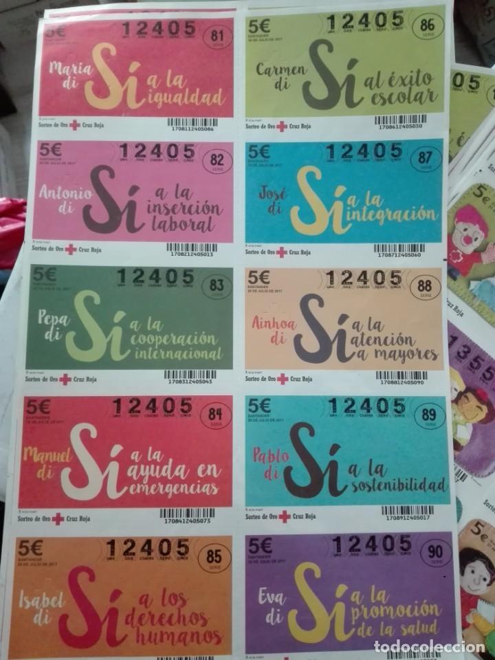 PLIEGO SORTEO DE ORO CRUZ ROJA 2017 (Coleccionismo - Lotería - Cupones ONCE)