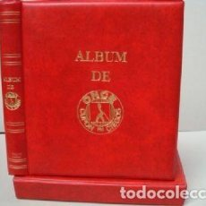 Cupones ONCE: ALBUM CUPONES ONCE 27X33 CM. 4 ANILLAS. COLOR ROJO.LUXE. Lote 222744160