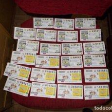 Cupones ONCE: GRAN LOTE CUPONES DEDICADOS A NAVALMORAL DE LA MATA. Lote 223156192