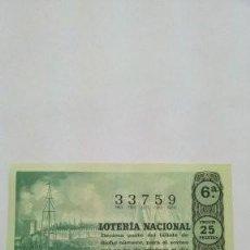 Cupones ONCE: LOTERIA DECIMOS ANTIGÜOS. Lote 225526366