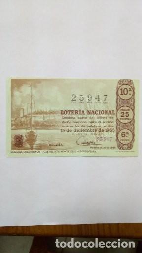 LOTERIA DECIMOS ANTIGÜOS (Coleccionismo - Lotería - Cupones ONCE)