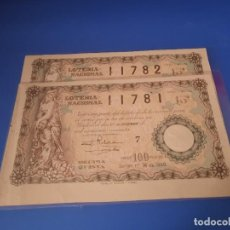 Cupones ONCE: LOTERIA 1940 SORTEO 36. Lote 226079995