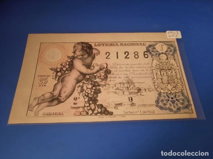 LOTERIA 1942 SORTEO 1 (Coleccionismo - Lotería - Cupones ONCE)