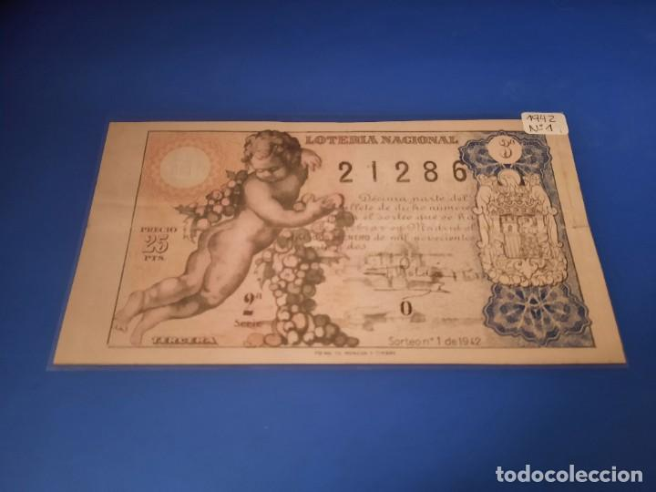 Cupones ONCE: Loteria 1942 sorteo 1 - Foto 1 - 226138995
