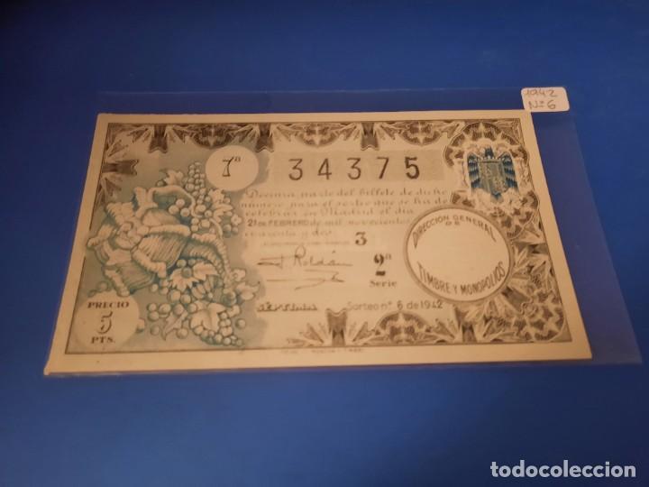 LOTERIA 1942 SORTEO 6 (Coleccionismo - Lotería - Cupones ONCE)
