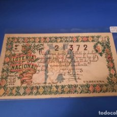 Cupones ONCE: LOTERIA 1942 SORTEO 21. Lote 228615190