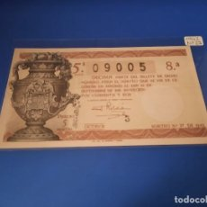 Cupones ONCE: LOTERIA 1942 SORTEO 27. Lote 228621205