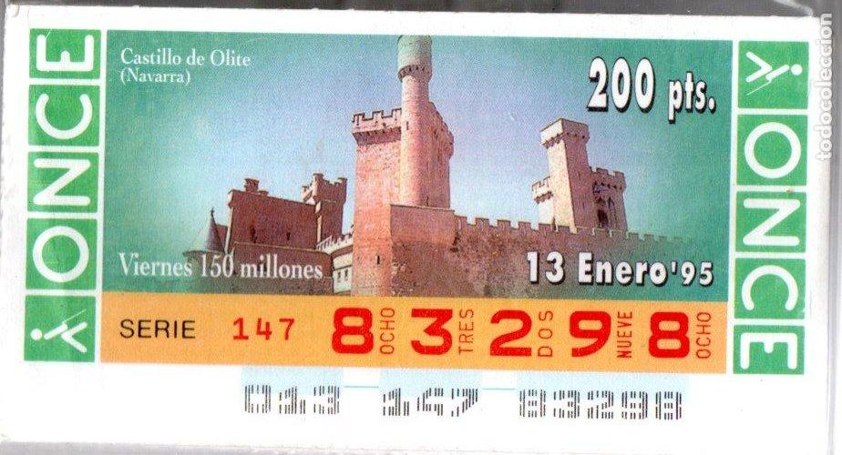 50 CUPONES DE LA ONCE - AÑOS 1995 Y 1996 - COLECCIÓN COMPLETA DE CASTILLOS DE ESPAÑA - (Coleccionismo - Lotería - Cupones ONCE)