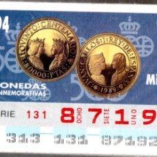 Cupones ONCE: 93 CUPONES DE LA ONCE - AÑOS 1994 Y 1995 - COLECCIÓN COMPLETA DE MONEDAS CONMEMORATIVAS - -. Lote 231063960