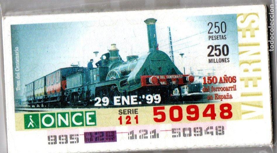 46 CUPONES DE LA ONCE - AÑOS 1999 Y 2000 - COLECCIÓN COMPLETA DE 150 AÑOS DEL FERROCARRIL EN ESPAÑA (Coleccionismo - Lotería - Cupones ONCE)