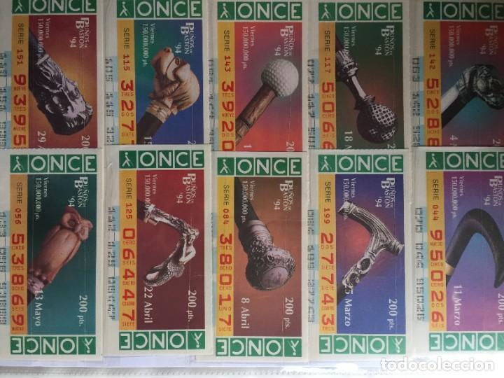 Cupones ONCE: PUÑOS DE BASTON 50 CUPONES INCLUYE TRES CUPONES EXTRAORDINARIOS MUNDIAL DE FUTBOL USA 94 - Foto 2 - 231222710