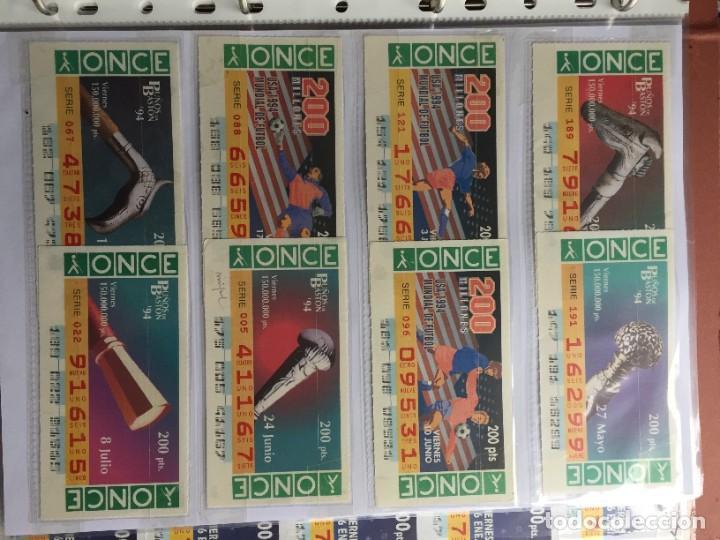 Cupones ONCE: PUÑOS DE BASTON 50 CUPONES INCLUYE TRES CUPONES EXTRAORDINARIOS MUNDIAL DE FUTBOL USA 94 - Foto 3 - 231222710
