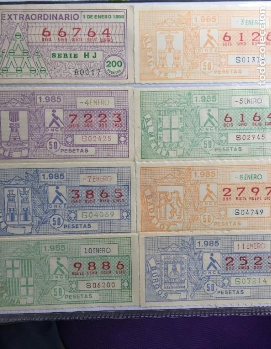 COLECCIÓN DE 186 CUPONES AÑO 1985 (Coleccionismo - Lotería - Cupones ONCE)