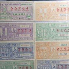 Cupones ONCE: COLECCIÓN DE 186 CUPONES AÑO 1985. Lote 231225190