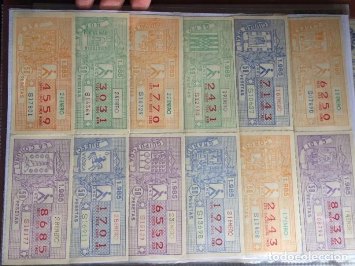 Cupones ONCE: COLECCIÓN DE 186 CUPONES AÑO 1985 - Foto 2 - 231225190